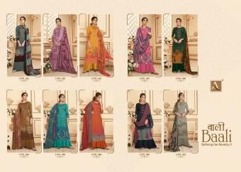 Alok Baali Fancy Jaam Embroidery Wear Designer Dress Material Collection