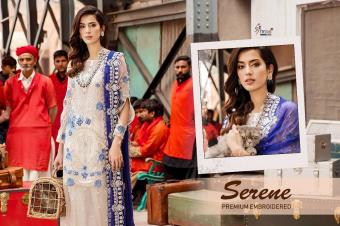 SHREE FABS serene remium embroderd  Wholesale suit Catalog