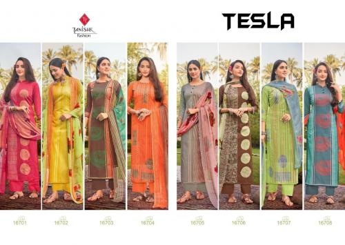 Tanishk Tesla Lawn Cambric Designer Dress Material Collection