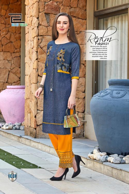 BLUE HILLS  WALKWAY X Wholesale kurti plazzo Catalog