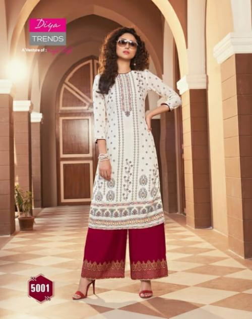 DIYA TRENDS BIBA'S VOL 5  Wholesale kurati plazzo Catalog