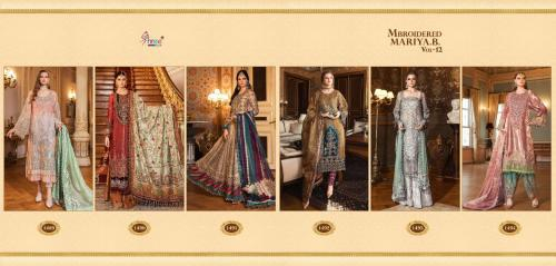 SHREE FABS MARIA B MBROIDERED VOL 12 WHOLESALE SALWER SUIT CATALOG